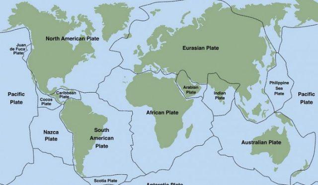 Dünya'nın Büyük Tektonik Plakaları