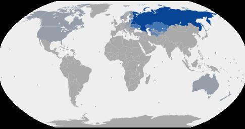Dünya'da Rusça Konuşan Ülkeler