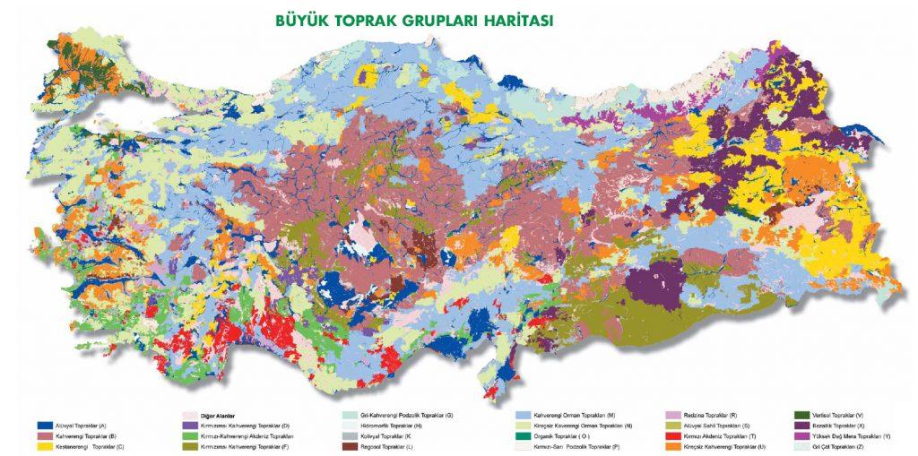 Türkiye Büyük Toprak Grupları Haritası