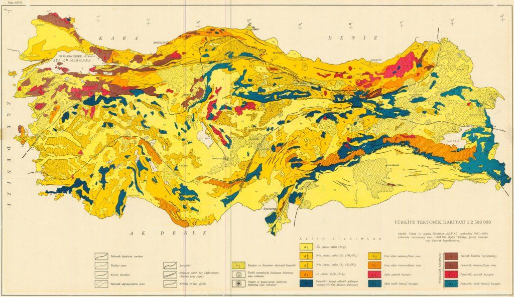 Türkiye Tektonik Haritası