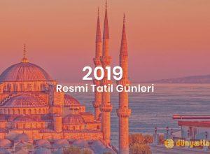 2019 Resmi Tatil Günleri