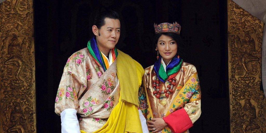 Bhutan Kralı ve Eşi
