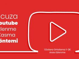 Ucuza Youtube İzlenme/Görüntülenme Kasma Yöntemi